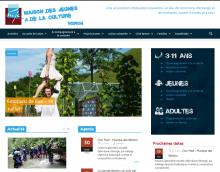 Page d'accueil du site de la MJC Voiron
